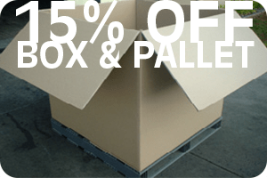 plastic pallets and box combo